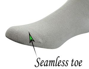Image 4 - Calcetines tobilleros diabéticos de bambú para hombre con puntera sin costuras y Top sin encuadernación, 6 pares talla L (10 13)