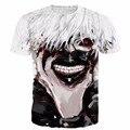 Harajuku Camiseta Del Anime de Tokio Ghoul camisetas Graffiti Art Print camisetas Hombres Mujeres Hipster 3D t shirt Vintage Kaneki Tes de Las Tapas