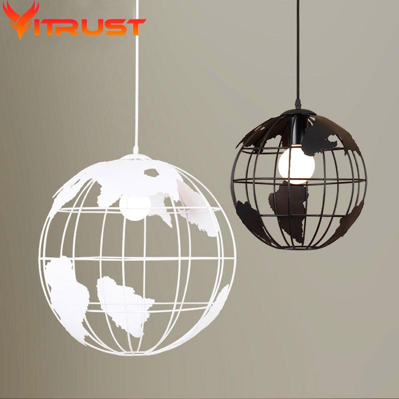 ФОТО Creative Pendant light lamp earth shap LED suspension light Arts Cafe Bar restaurant Metal art pendant lamp