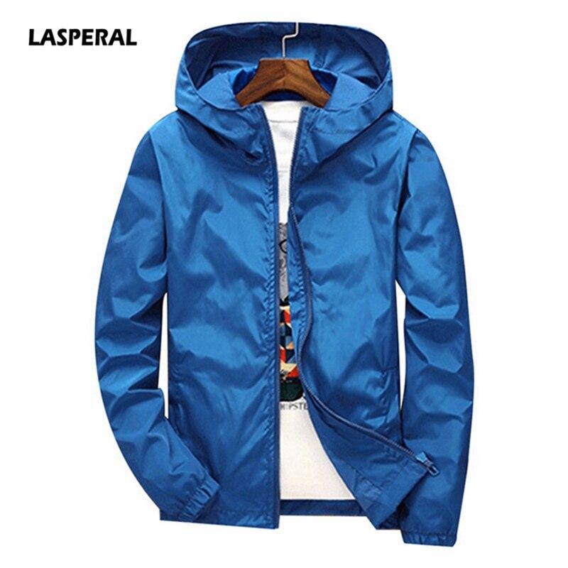 LASPERAL Outwear Windbreaker Running-Jacket Hooded-Coat Women New Thin Male Autumn 6XL