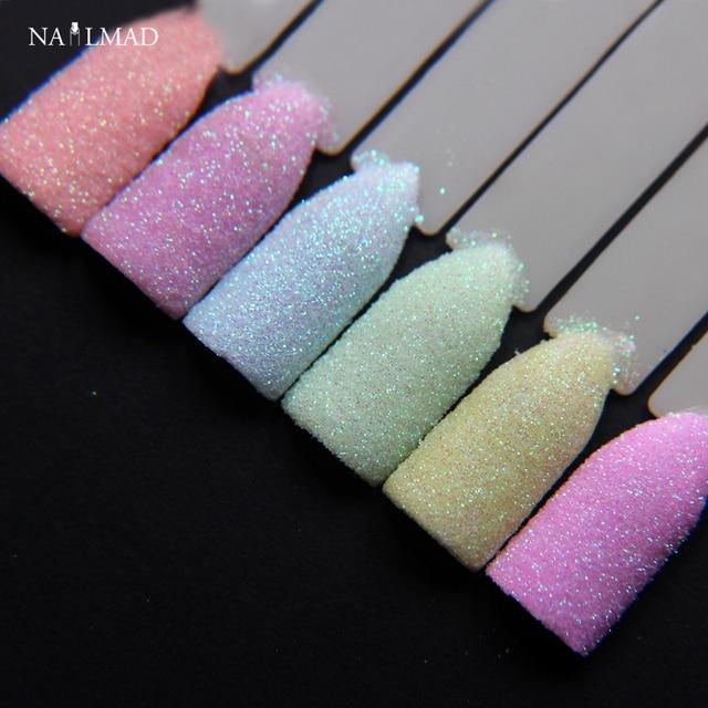6colors Nailmad Pastel Nail Glitter Set Art Powder Dust Ultra Fine Glitters Mix