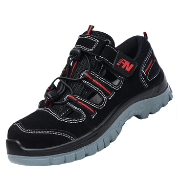 plus size men fashion steel toe cap work safety shoes outdoor platform sandal building worker security boots protective footwear