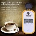 0-50% brix de azúcar café medidor TDS 0-25% de concentración refractómetro electrónica, digital, portátil refractómetro