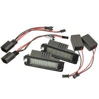 2Pcs LED License Number Plate Light Lamp Plate Light Tail Light For VW Polo Golf Passat