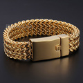 17mm Silver Tone or Gold plated 316L Stainless Steel Triple Foxtail Box Link Bracelet Mens Boys Jewelry DLHB407-408