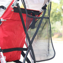 Baby Stroller Mesh Seat Pocket Multifunctional Baby Carriage Pram Trolley Net Bag Seat Pocket Stroller Accessories Carrying Bag(China)