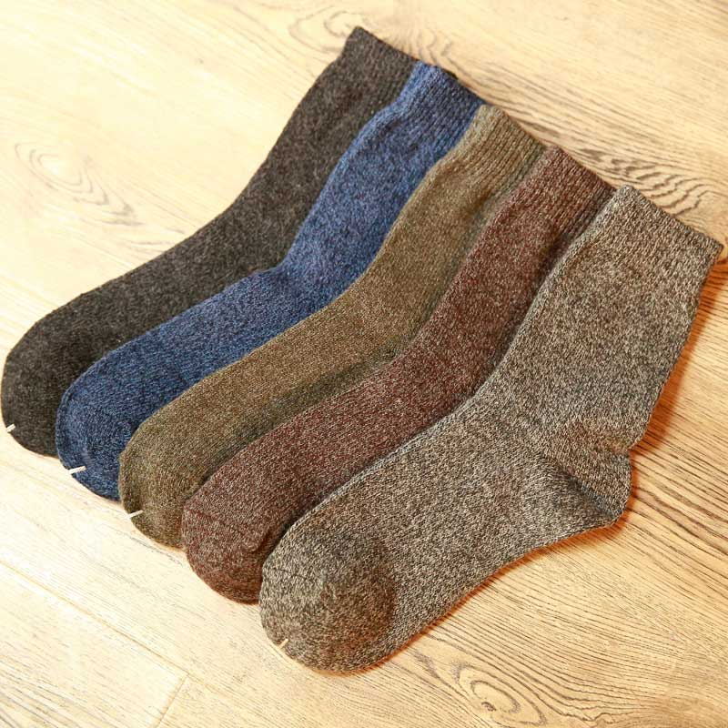 New Thick Merino Wool Socks High Quality Classic Business Brand Socks Men's Socks Autumn Winter Warm Socks For Men  Big Size