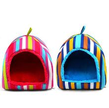 Colorful stripe Bed House for Pet Puppy Dogs Tent Kennel House Mongolia Style Dog Bed S M L Wholesale Retail