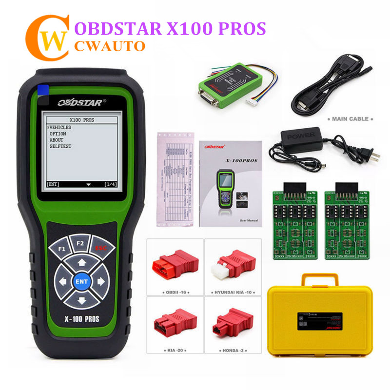 OBDSTAR X100 PROS OBD2 Key Programmer C + D + E Type Support Immobilizer Odometer Correction OBD Software