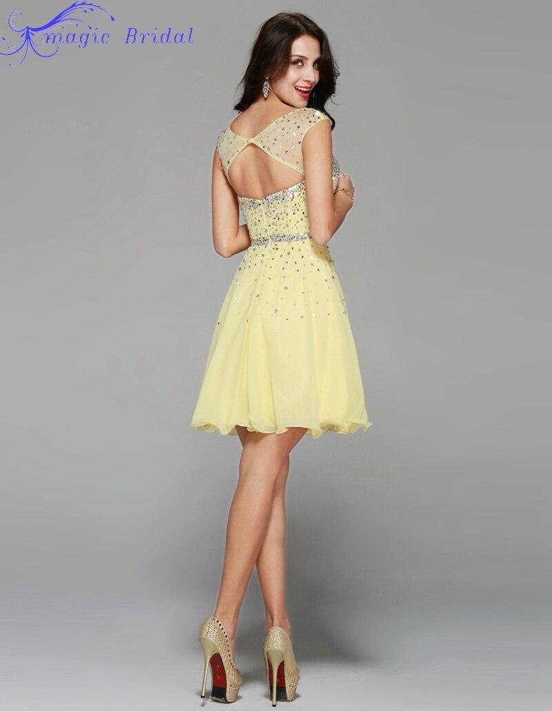 Vestido amarillo para graduacion