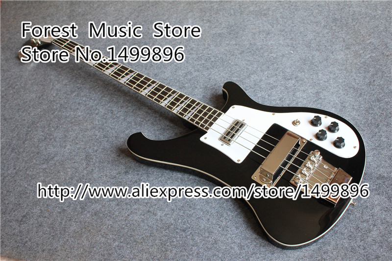 Hot Selling Black China Rick R4003 Electric Bass Guitarra Chrome Hardware Guitarras Body & Kits Left Handed Available top quality multicolour sg electric guitar 4 string bass guitarra 22 frets left handed available