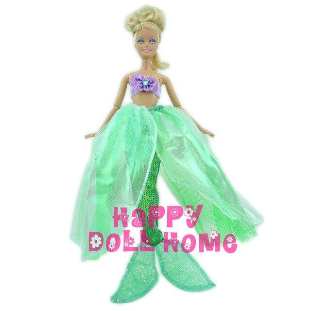 2in1 Märchen Meerjungfrau Outfit Lila Top Mit Perle + grün ...