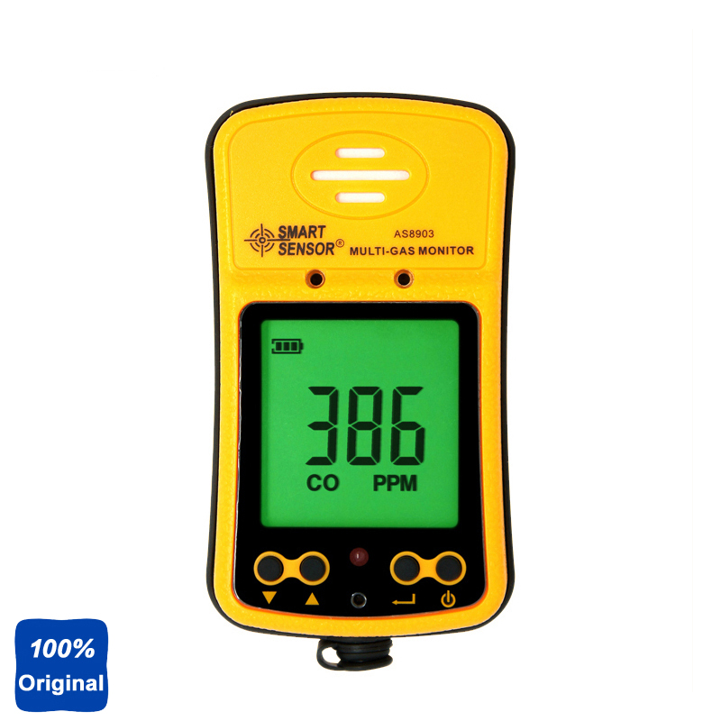 2in1 Handheld Hydrothion H2S Monitor Carbon Monoxide Tester CO Gas Detector 100% Original AS8903