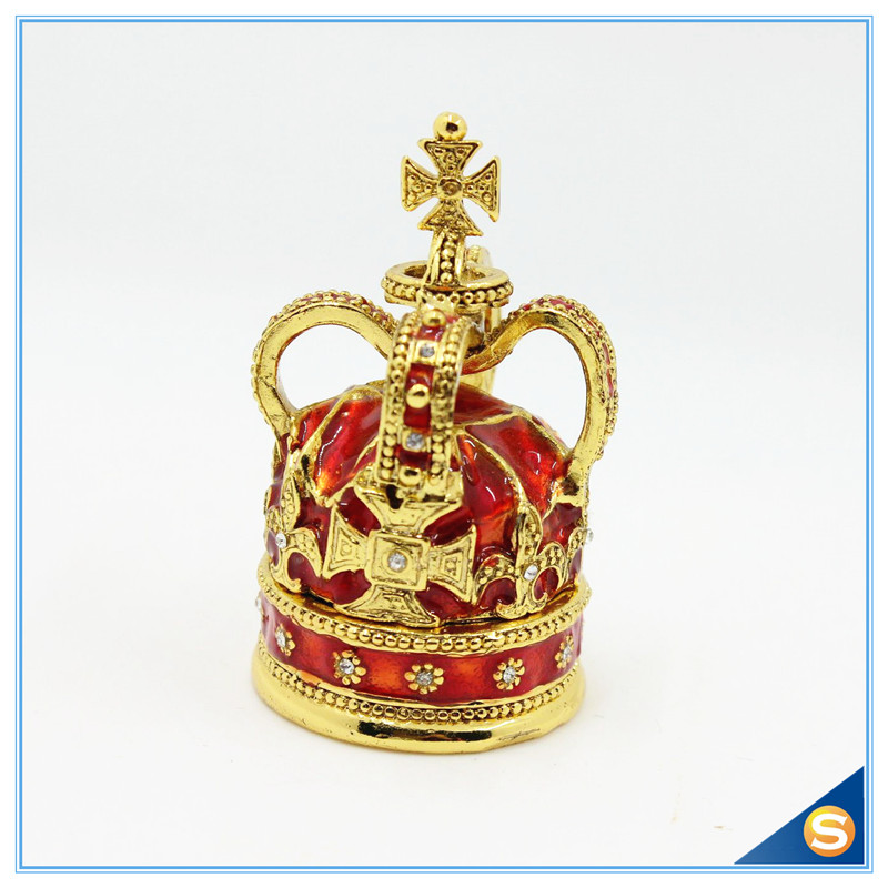 Free Shipping Cross Crown Trinket Box Ring Jewelry Box Ring - Home Decor - Photo 2