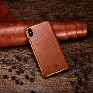 Image 3 - ICARER Cassa Del Cuoio Genuino Per il iPhone XS Max XR di Lusso Della Copertura di Vibrazione Per il iPhone Xs Max XR X XS Originale casi di Telefono in pelle Coque