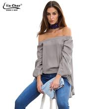 Купить с кэшбэком Women Blouses 2016 Blusas Tops Plus Size Casual Cotton Women Blouse  Chic Elegant Lady Shirts Tops Elia Cher Brand 0318