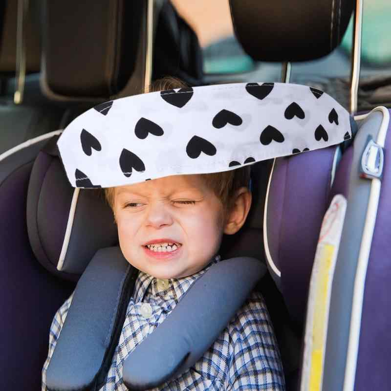 Seggiolino Auto Bambino neonato Testa Cinghia di Supporto Per Bambini Cinghia di Fissaggio Regolabile Box Posizionatore Sonno Del Bambino Saftey Cintura Cuscino