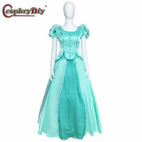 Cosplaydiy The Little Mermaid Dress Princess Ariel Cosplay Women Medieval Gown Costumes Dresses Halloween Party Custom Made