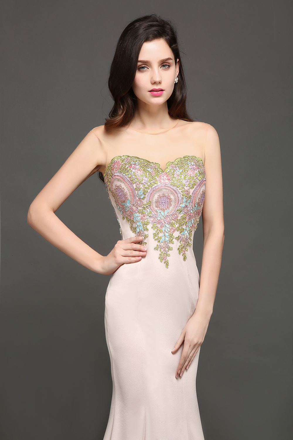 Pink beaded long evening dresses colourful appliques mermaid bride pink beaded long evening dresses colourful appliques mermaid bride sexy sleeveless evening gowns formal party prom dress in evening dresses from weddings ombrellifo Choice Image