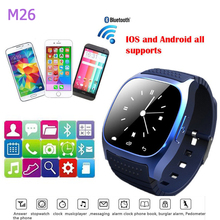 Smartwatch M26 Bluetooth Smart Uhr Tragbare Geräte für IOS Android mit Passometer Sport Smart Whatches Tragen für armbanduhr