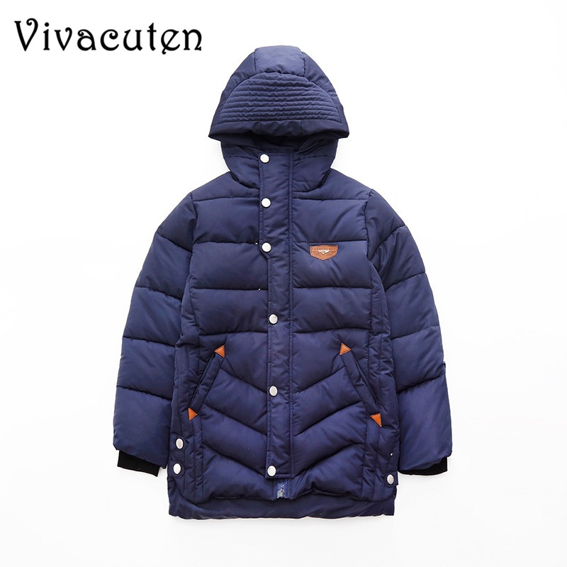 Boys Winter Coat 2018 New Children Warm Wadded Jackets Kids Coat Thick Cotton-padded Jacket Teens Jacket Outerwears Hooded ZH04 winter jacket men warm coat mens casual hooded cotton jackets brand new handsome outwear padded parka plus size xxxl y1105 142f