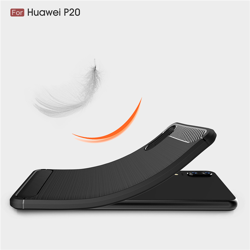 Shockproof Carbon Fiber Case For Huawei P20 Mate 20 Lite Pro P10 Honor 10 8X 9 Nova 3 3i P Cover Plus Y7 Y6 2018 Y9 2019 Prime in Fitted Cases from Cellphones Telecommunications