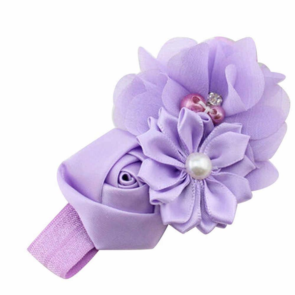 Детские аксессуары для волос Детские повязки для волос девушка цветок жемчуг цветок волосы jojo siwa повязка на голову Hairband волос заколка-пряжка