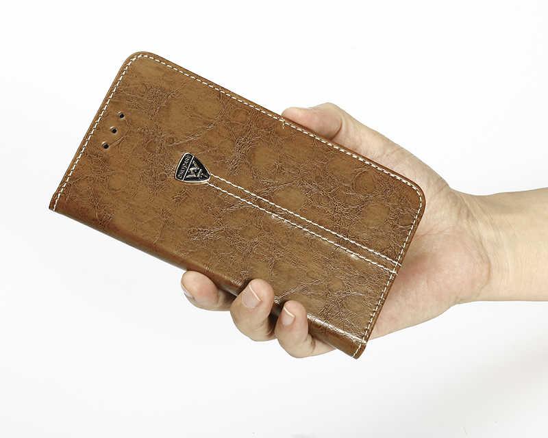 בציר ארנק מקרה עבור פיליפס Xenium W336 3.5 אינץ עור מפוצל רטרו Flip כיסוי מגנטי אופנה מקרי Kickstand רצועה