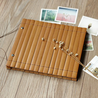 Bamboo Slip PP Bag Album Vintage Kraft Paper Hand drawn Menu Clip to clip DIY photo album ZM1021