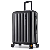 New Aluminum Rod Zipper Luggage, PC Shell & Metal Drawbar Rolling Luggage Bag Trolley Case Travel Suitcase Wheels