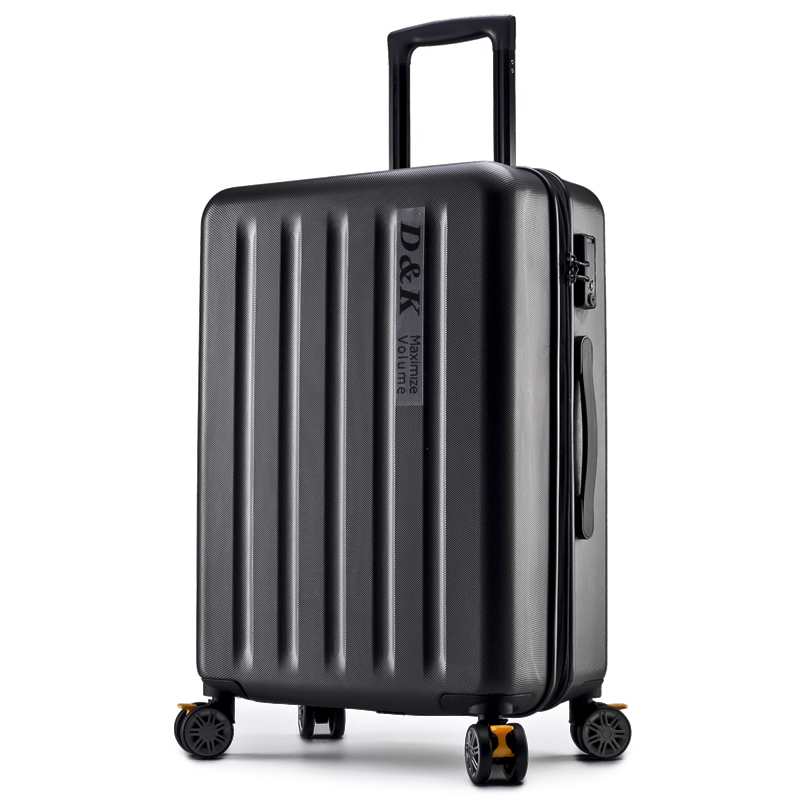 New Aluminum Rod Zipper Luggage, PC Shell & Metal Drawbar Rolling Luggage Bag Trolley Case Travel Suitcase Wheels