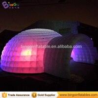 Бесплатная доставка, 15 М Белые гигантские надувные куполообразной палатки Типи изменение цвета светодиодное освещение иглу шатер для игру