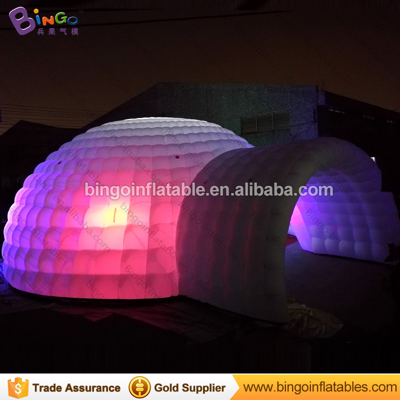 Free Shipping 15M white giant inflatable dome tent tipi colors change LED lighting igloo marquee for toy tents free shipping 15m white oxford nylon cloth giant inflatable dome tent tipi for toy tents