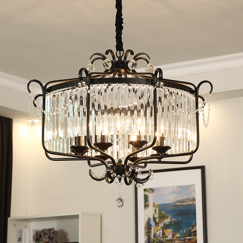 American Fashion Atmosphere Crystal Chandelier Clothing Shop Decoration Lights Black/Bronze Pendant lights vintage clothing store personalized art chandelier chandelier edison the heavenly maids scatter blossoms tiny cages