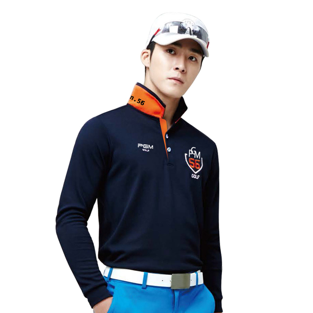 Pgm brand 2018 fit polomens men top polo shirts quick dry for Name brand golf shirts