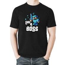 150bfa09f Boys game anime Minecraft t-shirt men short-sleeved casual tops 100% cotton
