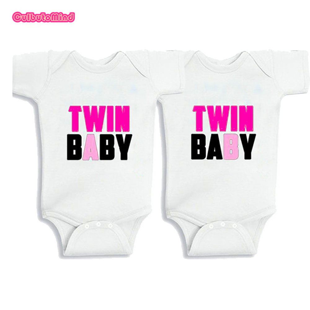e6cf549159a Culbutomind Unisex Twins Infant One Piece Body Suit Twin Matching Set Twin  Baby Print Summer Cotton Short Sleeve Baby Jumpsuit f