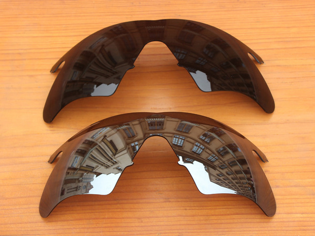 Black & Chrome Silver 2 Pieces Polarized Replacement Lenses For M Frame Heater Sunglasses Frame 100% UVA & UVB Protection
