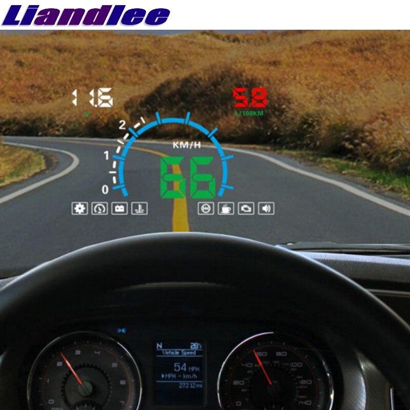 US $67 01 31% OFF|Liandlee HUD For BMW 4 M4 F32 F33 F36 6 E63 E64 F06 F12  F13 Digital Speedometer OBD2 Head Up Display Big Monitor Racing HUD-in