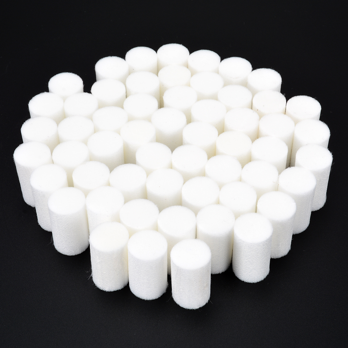 50pcs High Pressure Pump Filter Element Refill 35*20mm White Fiber Cotton Filters For Air Compressor System Mayitr p 015 corrugated pneumatics coalescing element filter core for air compressor