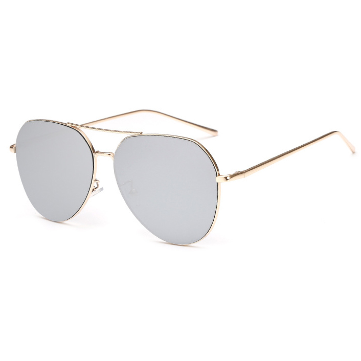 New Fashion Flat Lens Mirror aviation Sunglasses Women Stylish Sun - Apparel Accessories - Photo 5