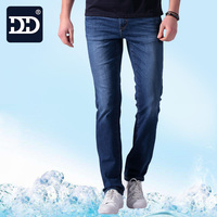 2017 Summer New Stretch Cotton Breathable Straight Jeans Men Thin Cool Summer Men S Denim Jeans
