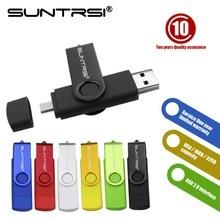 Suntrsi USB Flash Drive 64GB High Speed Pendrive Smart Phone External Storage OTG Pen Drive Real Capacity Android USB Stick