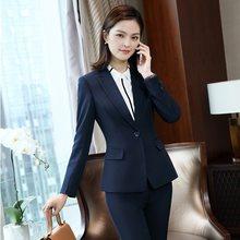 e5b46896f Formal mujer Blazer azul marino mujer Chaquetas Mujer Chaquetas abrigo mujer  ropa de oficina trabajo uniforme diseños de estilos