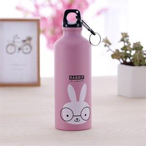 Image 5 - Botella de agua portátil para niños, botella de agua de 500ml con bonitos animales para deportes al aire libre, ciclismo, Camping, bicicleta y senderismo