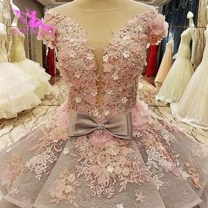Image 5 - AIJINGYU ישיר ישראל שמלת נקבה על מסיבת ארוך רכבת 2021 2020 לבן נחמד שמלות חתונה שמלות לכלות מבוגרות