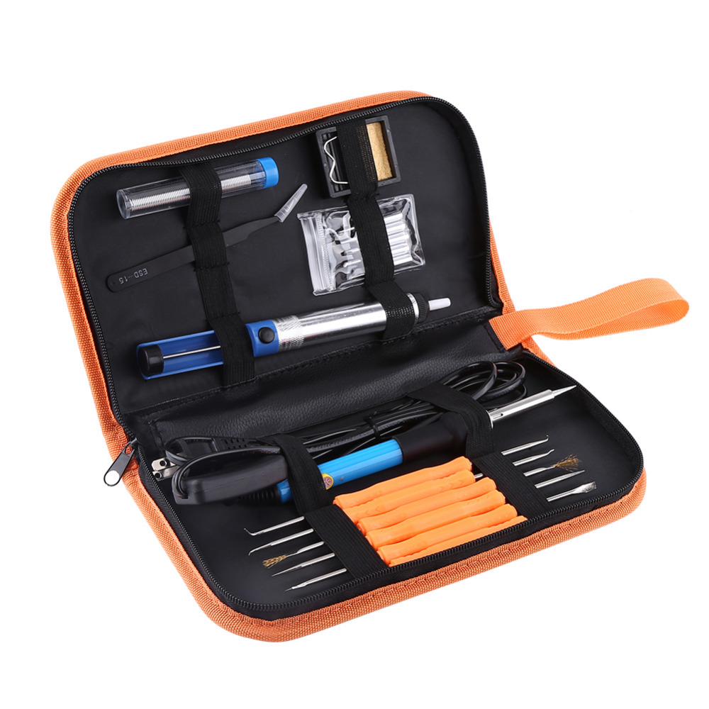 1 Set 9in1 Portable Adjustable Temperature Welding Iron Electric Welding Soldering Iron Tools Kit 60W 110V  цены