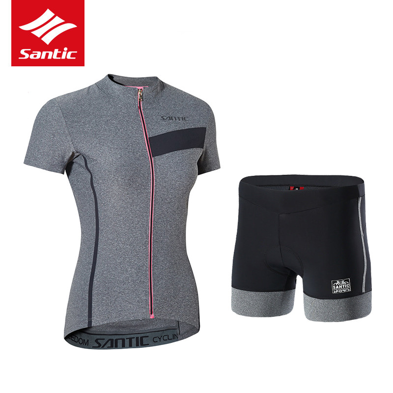 Santic Women Cycling Set Jersey Quick Dry Breathable Summer Bike Clothes Pro MTB Road Bicycle Sportswear Suit Ropa Ciclismo  pro mtb cycling jersey women s breathable quick dry summer sports outdoor running dress riding bike girls clothing ropa ciclismo