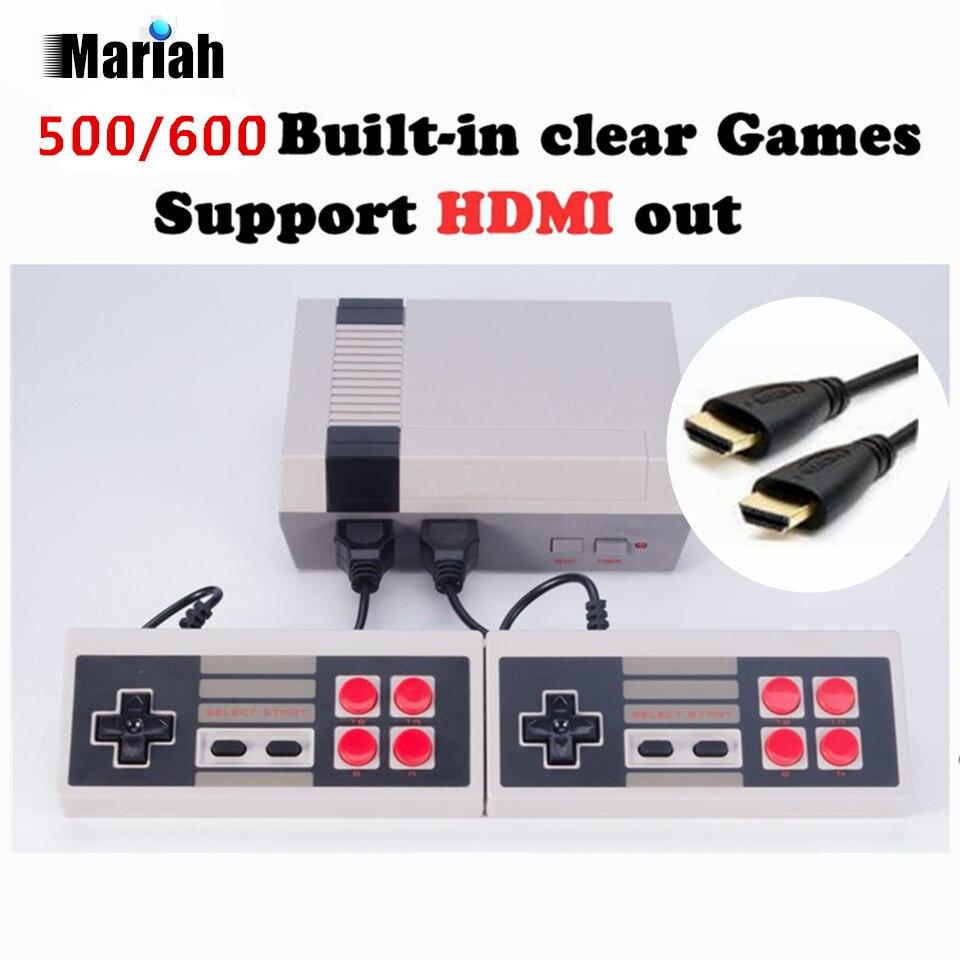 Ретро Семья HDMI Mini ТВ игровой консоли HD видео классический Портативный игры игроки встроенный 600 игр HD двойной геймпад управления