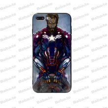 Babaite Marvel Avengers Captain America Shield Superhero Luxury Phone Case Cover for iPhone 5 5Sx 6 7 7plus 8 8Plus X XS MAX XR